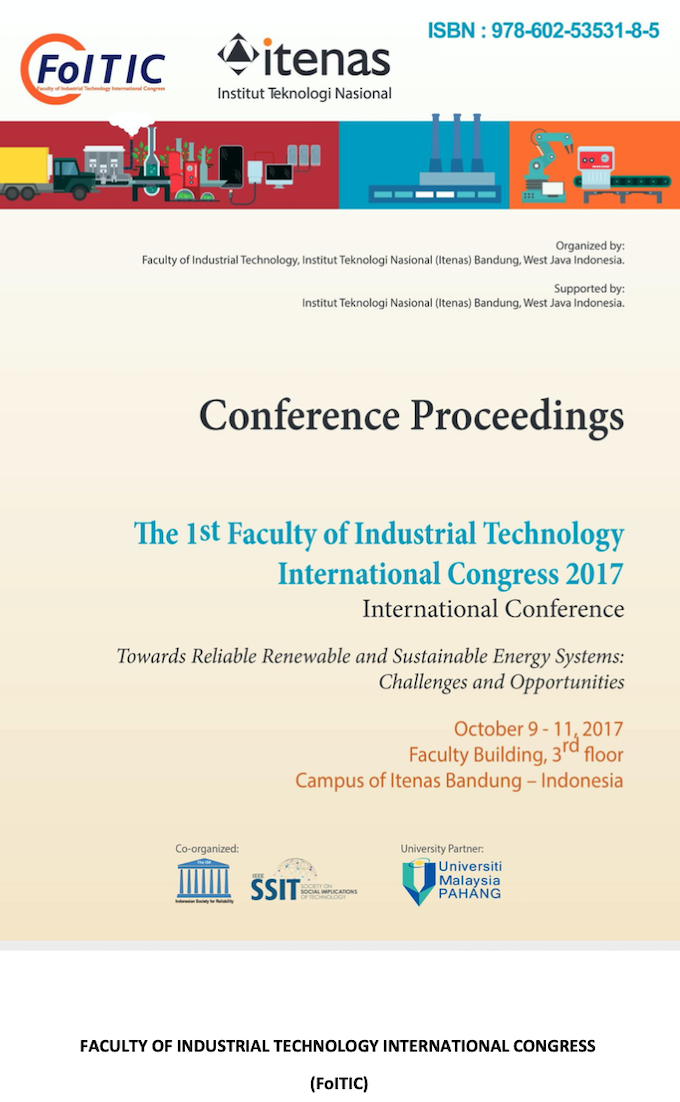 PROCEEDINGS The 1st FoITIC 2017 International Conference